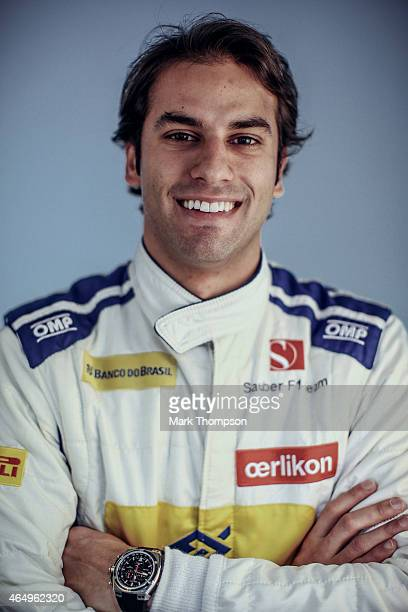 Felipe Nasr of Brazil and Sauber F1 poses for a portrait during day three of Formula One Winter Testing at Circuit de Catalunya on February 21 2015...