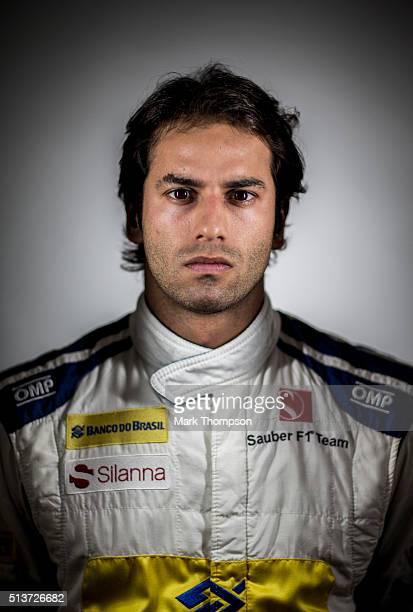 Felipe Nasr of Brazil and Sauber F1 poses for a portrait during day four of F1 winter testing at Circuit de Catalunya on March 4 2016 in Montmelo...