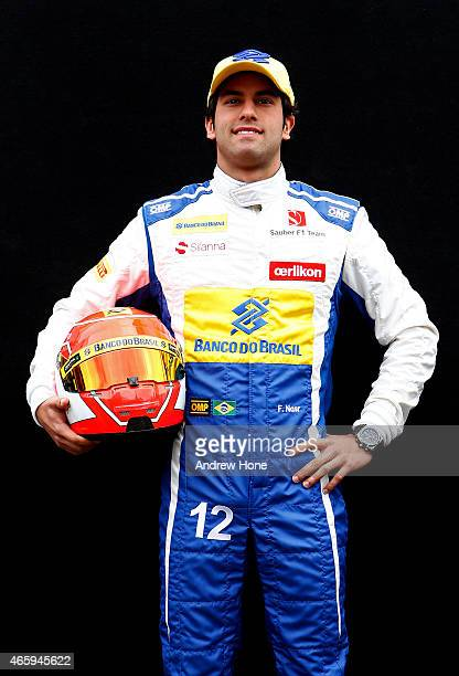 Felipe Nasr of Brazil and Sauber F1 poses for photographers during previews to the Australian Formula One Grand Prix at Albert Park on March 12 2015...