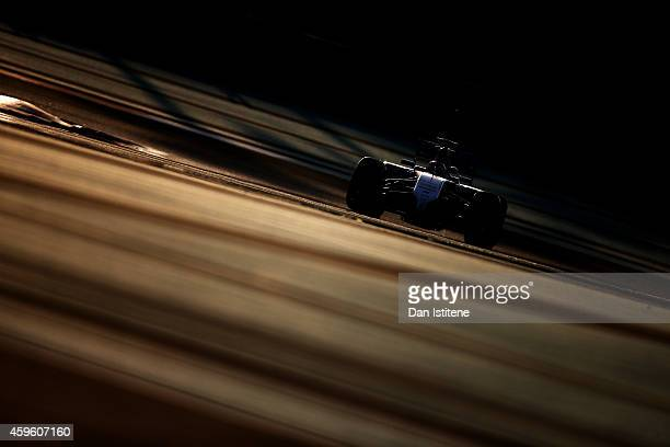 Felipe Nasr of Brazil and Williams drives during day two of Formula One testing at Yas Marina Circuit on November 26 2014 in Abu Dhabi United Arab...