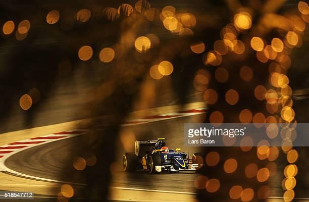 Felipe Nasr of Brazil drives the Sauber F1 Team Sauber C35 Ferrari 059/5 turbo on track during practice for the Bahrain Formula One Grand Prix at...