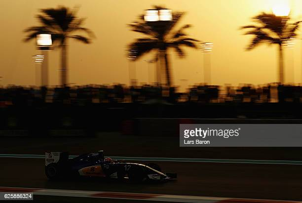 Felipe Nasr of Brazil driving the Sauber F1 Team Sauber C35 Ferrari 059/5 turbo on track during qualifying for the Abu Dhabi Formula One Grand Prix...