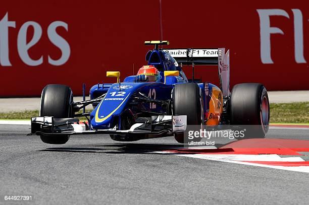 Felipe Nasr, Sauber, F1 Team, in der Luft, formula 1 GP, Spanien in Barcelona