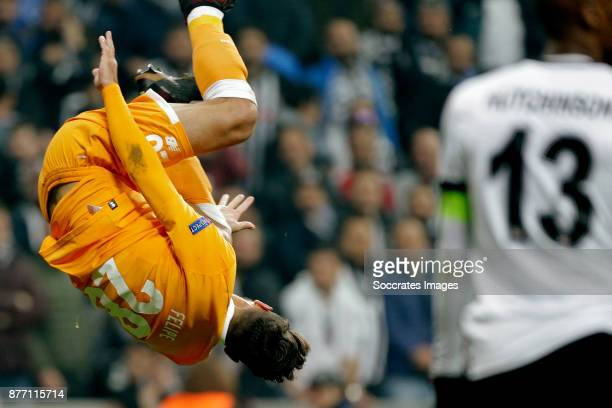 Felipe of FC Porto celebrate 0-1 during the UEFA Champions League match between Besiktas v FC Porto at the Vodafone Park on November 21, 2017 in...