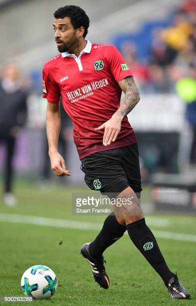 Felipe of Hannover in action during the Bundesliga match between Hannover 96 and FC Augsburg at HDIArena on March 10 2018 in Hanover Germany