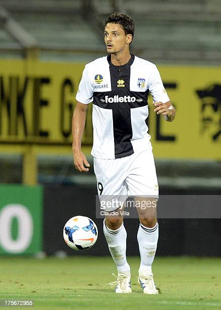 Felipe of Parma FC in action during the preseason friendly match between Parma FC and Olympique Marseille at Stadio Ennio Tardini on July 31 2013 in...