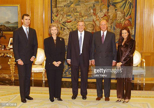 Felipe of Spain Queen Sofia Nestor Kirchner King Juan Carlos and Cristina de Kirchner