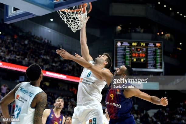Felipe Reyes #9 forward of Real Madrid during the 2017/2018 Turkish Airlines Euroleague Regular Season Round 12 game between Real Madrid v FC...