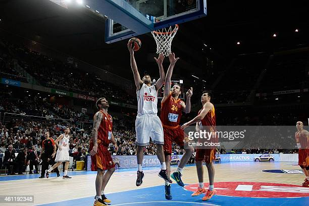 Felipe Reyes #9 of Real Madrid in action during the Euroleague Basketball Top 16 Date 2 game between Real Madrid v Galatasaray Liv Hospital Istanbul...