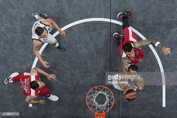 Felipe Reyes, #9 of Real Madrid in action during the Turkish Airlines Euroleague Final Four Madrid 2015 Final Game between Real Madrid vs Olympiacos...