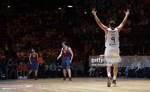 Felipe Reyes, #9 of Real Madrid in action during the Turkish Airlines EuroLeague Final Four Semi Final A between FC Barcelona v Real Madrid at...