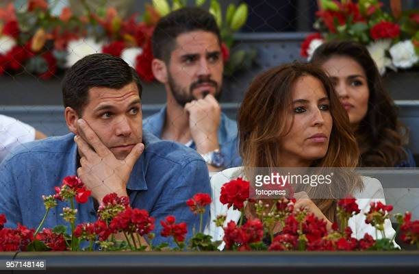 Felipe Reyes and Kirenia Cabrera attend day six of the Mutua Madrid Open at La Caja Magica on May 10 2018 in Madrid Spain