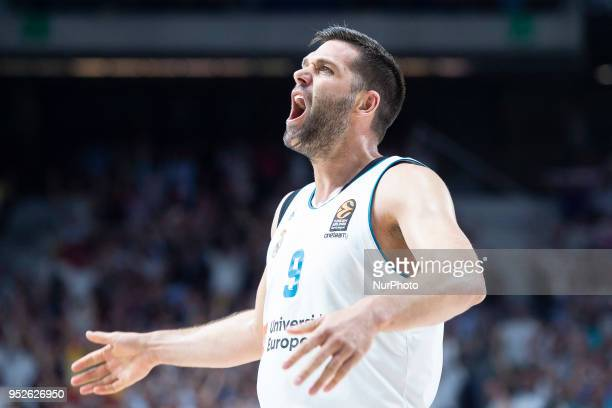 Felipe Reyes of Real Madrid during the Turkish Airlines Euroleague Play Offs Game 4 between Real Madrid v Panathinaikos Superfoods Athens at Wizink...