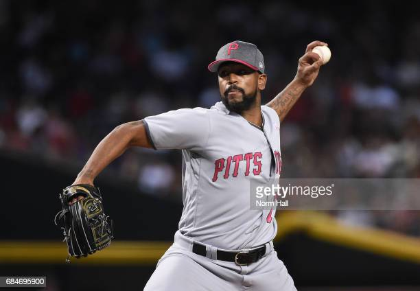 Felipe Rivero of the Pittsburgh Pirates delivers a pitch against the Arizona Diamondbacks at Chase Field on May 13 2017 in Phoenix Arizona Players...