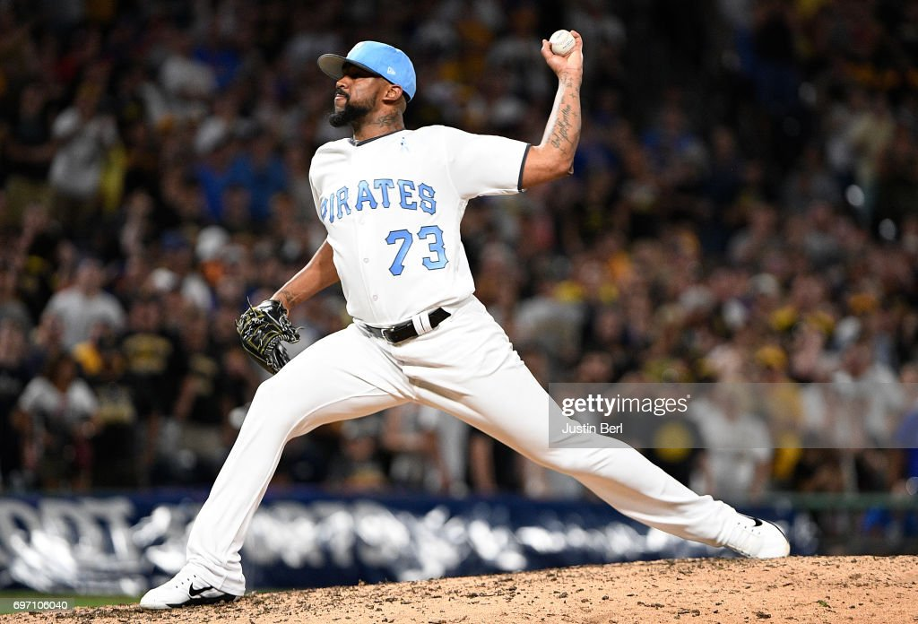 Felipe Rivero #73 of the Pittsburgh Pirates delivers a pitch in the ninth inning during the game against the Chicago Cubs at PNC Park on June 17, 2017 in Pittsburgh, Pennsylvania.