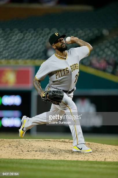 Felipe Rivero of the Pittsburgh Pirates pitches against the Detroit Tigers during game two of a doubleheader at Comerica Park on April 1 2018 in...