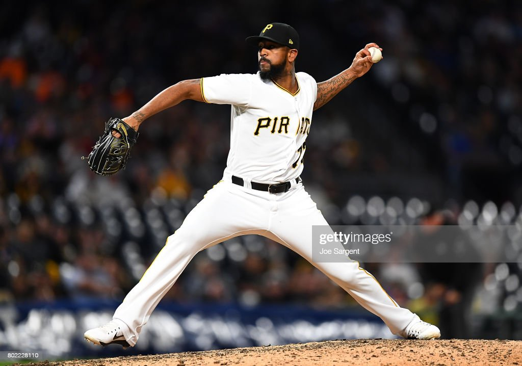 Felipe Rivero #73 of the Pittsburgh Pirates pitches during the tenth inning against the Tampa Bay Rays at PNC Park on June 27, 2017 in Pittsburgh, Pennsylvania.