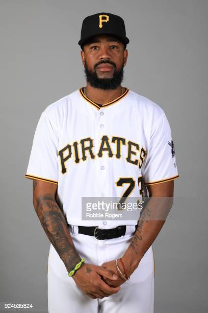 Felipe Rivero of the Pittsburgh Pirates poses during Photo Day on Wednesday February 21 2018 at LECOM Park in Bradenton Florida