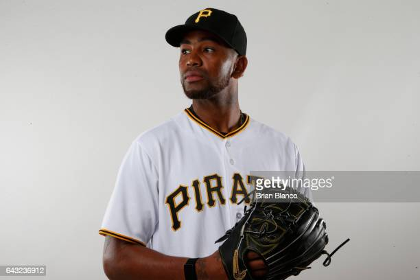 Felipe Rivero of the Pittsburgh Pirates poses for a photograph during MLB spring training photo day on February 19 2017 at Pirate City in Bradenton...