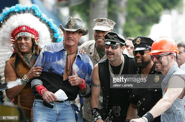 Felipe Rose Jeff Olson Alex Briley Eric Anzalone Ray Simpson and David Hodo of The Village People are inducted into the Hollywood Walk of Fame on...