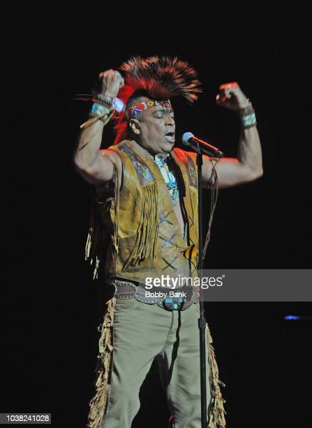 Felipe Rose of The Village People performs at Disco Fever 2018 at the St George Theatre on September 22 2018 in Staten Island NY