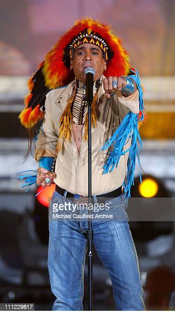 Felipe Rose of The Village People performs on stage at the taping of the American Bandstand's 50th A Celebration to air on ABC TV on May 3 2002