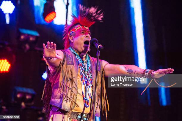 Felipe Rose of Village People performs at Rewind Festival on August 19 2017 in HenleyonThames England