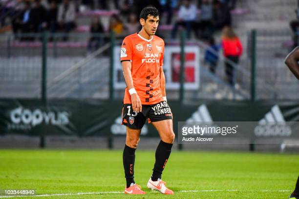 Felipe Saad of Lorient during the French Ligue 2 match between Red star and Lorient at Stade Pierre Brisson on September 14 2018 in Beauvais France