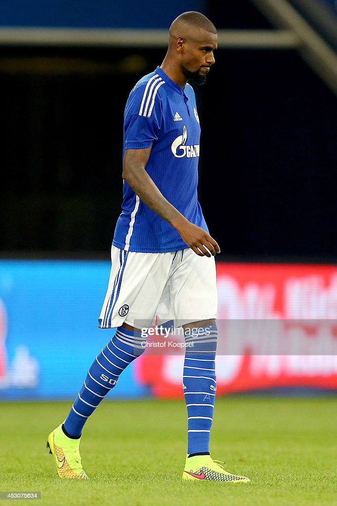 Felipe Santana of Schalke looks dejected after missing a penalty during the penalty shoot-out during the match between FC Schalke 04 and West Ham United as part of the Schalke 04 Cup Day at Veltins-Arena on August 2, 2014 in Gelsenkirchen, Germany. The match between Schalke and West Ham United ended 6-7 after penalty shoot-out.