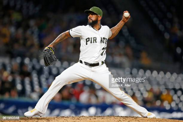 Felipe Vazquez of the Pittsburgh Pirates in action against the San Diego Padres at PNC Park on May 17 2018 in Pittsburgh Pennsylvania Felipe Vazquez