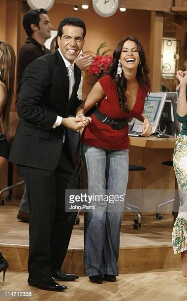 Felipe Viel and Sofia Vergara during Escandalo TV Celebrates a 5th Anniversary at Telefutura Studios in Miami Florida United States