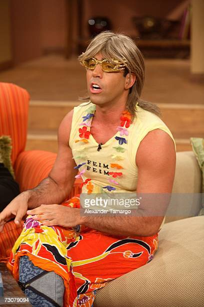 Felipe Viel appears on the new set of Escandalo TV for their 5th Anniversay episode on January 22 2007 in Miami Florida
