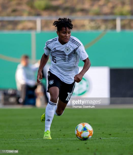 Felix Agu of Germany in action during the U21 international friendly match between Germany and Greece at GGZ Arena on September 05, 2019 in Zwickau,...