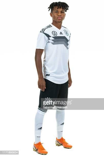 Felix Agu poses during the Germany U21 Team Presentation on September 02, 2019 in Zwickau, Germany.