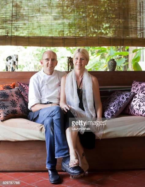 Felix and Lucia Eppisser, owners of Le Planteur Restaurant, Yangon, Myanmar