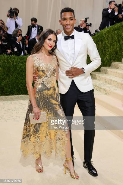 Felix Auger Aliassime and guest attend The 2021 Met Gala Celebrating In America: A Lexicon Of Fashion at Metropolitan Museum of Art on September 13,...