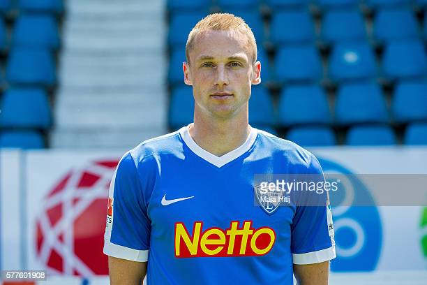 Felix Bastians poses during the official team presentation of VfL Bochum on July 19 2016 at Vonovia Ruhrstadion in Bochum Germany
