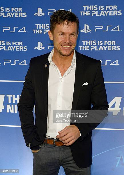 Felix Baumgartner attends Sony Launches PlayStation 4 In Germany at Sony Centre on November 28 2013 in Berlin Germany