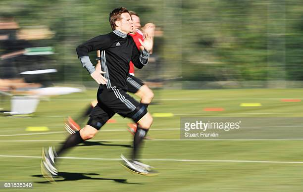 Felix Brych runs during the DFB Referee training course at the Hilton hotel on January 12 2017 in Palma de Mallorca Spain