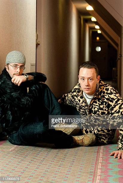 Felix Buxton and Simon Ratcliffe from Basement Jaxx posed in Ameicain Hotel in Amsterdam, Netherlands on 24th March 1999.