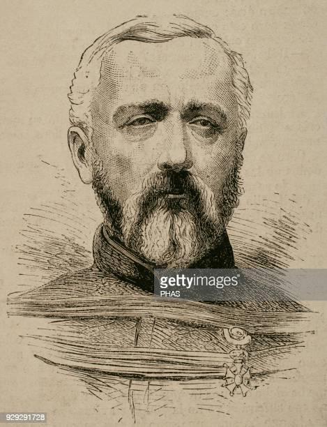 "Felix Charles Douay . General in the French army. Portrait. Engraving. ""La Ilustracion Espanola y Americana"", 1870."
