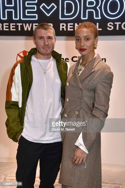 Felix Cooper and Adwoa Aboah attend the opening of 'The Drop' the UK's first streetwear rental space with all profits going towards Save the...