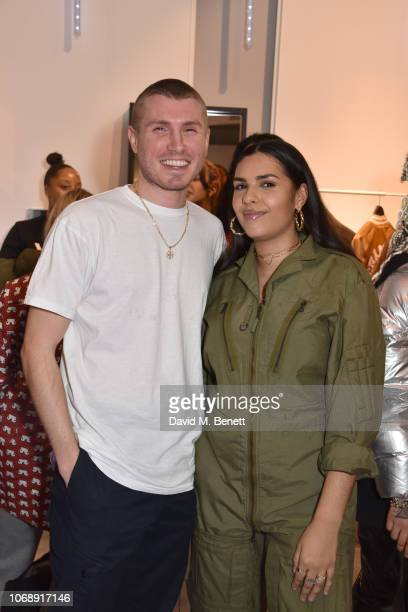 Felix Cooper and Alize Demange attend the opening of 'The Drop' the UK's first streetwear rental space with all profits going towards Save the...