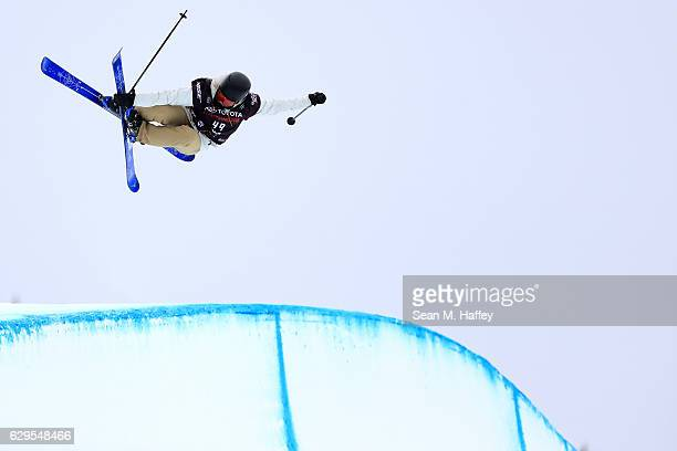 Felix Coudouy of France takes a practice run in the halfpipe during the 2017 US Freeskiing Grand Prix at Copper Mountain on December 13 2016 in...