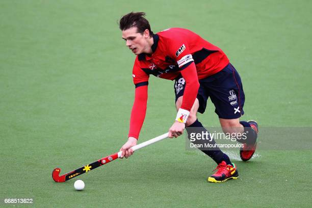 Felix Denayer of KHC Dragons in action during the Euro Hockey League KO16 match between KHC Dragons and Racing Club de Bruxelles at held at HC...