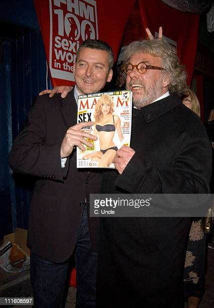 Felix Dennis of Maxim Magazine and guest during 2005 FHM Sexiest Women Party Arrivals at Umbaba in London Great Britain