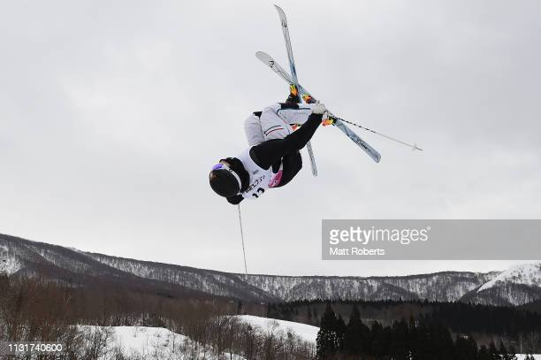 Felix Elofsson of Sweden competes during day two of the Men's FIS Freestyle Skiing World Cup Tazawako on February 24 2019 in Senboku Akita Japan