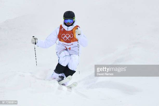 Felix Elofsson of Sweden competes in the Freestyle Skiing Men's Moguls Qualification on day three of the PyeongChang 2018 Winter Olympic Games at...
