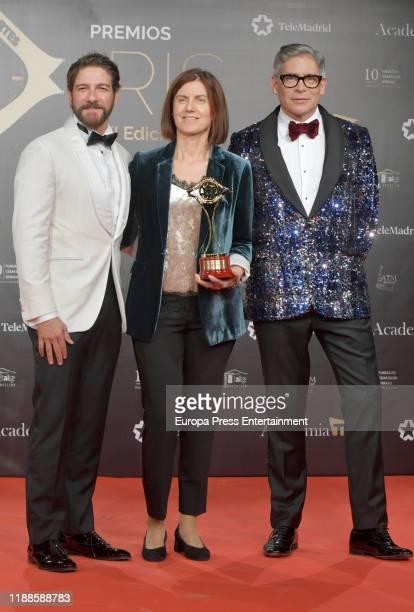 Felix Gomez and Boriz Izaguirre attend 'Iris Academia de Television' awards at Nuevo Teatro Alcala on November 18 2019 in Madrid Spain