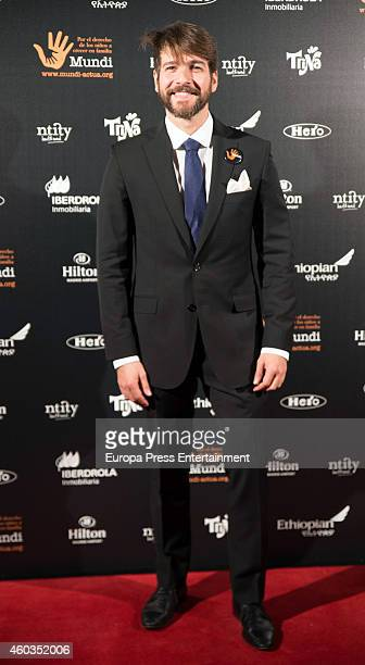 Felix Gomez attends the charity gala for the 10th anniversary of Mundi Asociation on December 11 2014 in Madrid Spain